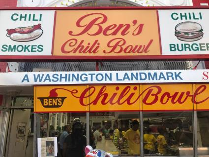 Made it to Ben's Chili Bowl's 60th Anniversary. This was my last stop from a Washington Mural tour on foot around Logan Circle. After witnessing the strong sense of community involvement reflected in the murals, it was enthralling to see the masses gather and enjoy an age-old legacy; nostalgia and a treat for the taste buds!